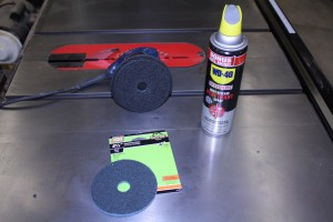 Finishing Disc WD-40 Penetrant and Random Orbit Sander